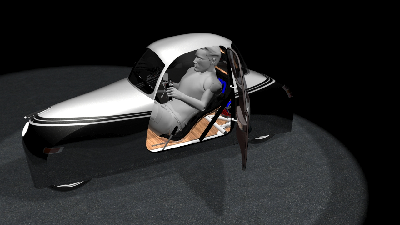 sem streamlined electric motorcycle suicide door